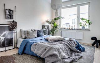 Спальня в скандинавском стиле: скромное очарование этнического интерьера
