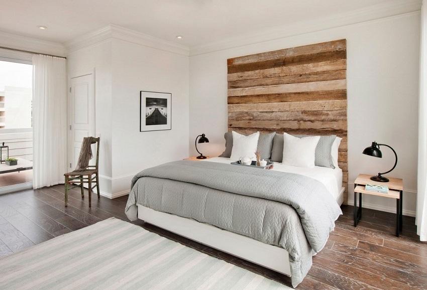 Основные материалы для отделки помещения в скандинавском стиле — это дерево, камень, стекло, ткань, кожа и мех
