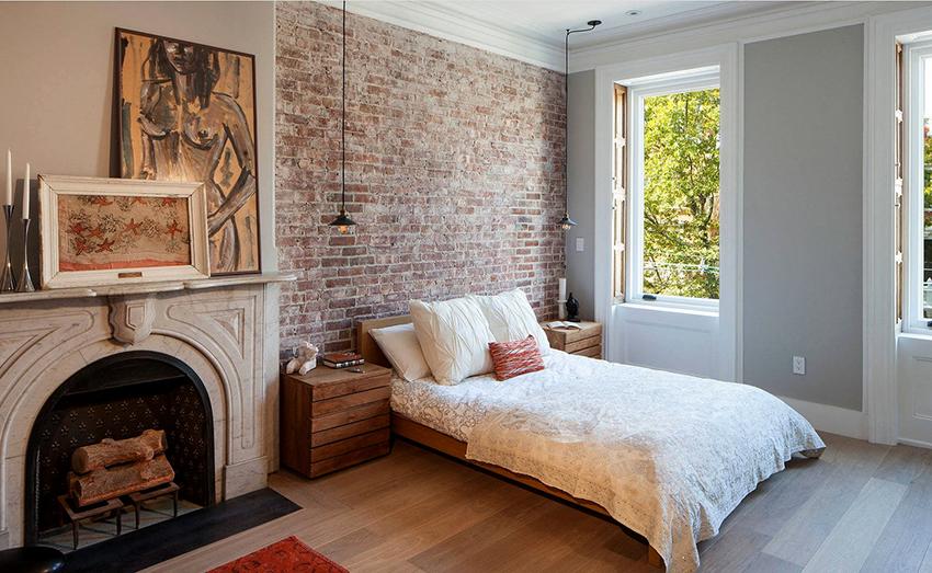 Спальня в стиле лофт должна быть максимально просторная и большая