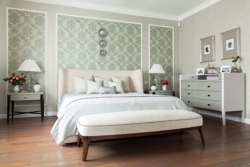 Мебель для спальни белого цвета придает интерьеру изящества и легкости