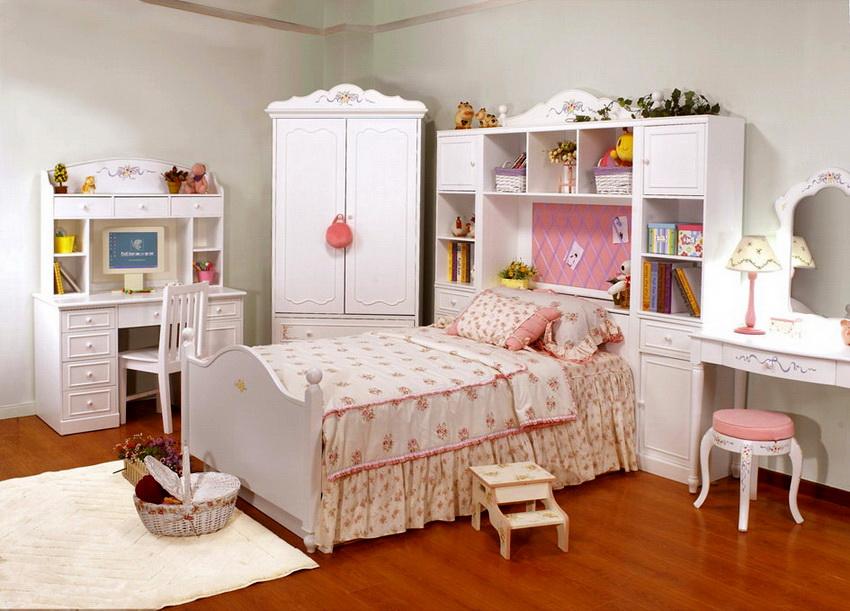 Как правило, для детей разного пола используют разный дизайн спального гарнитура