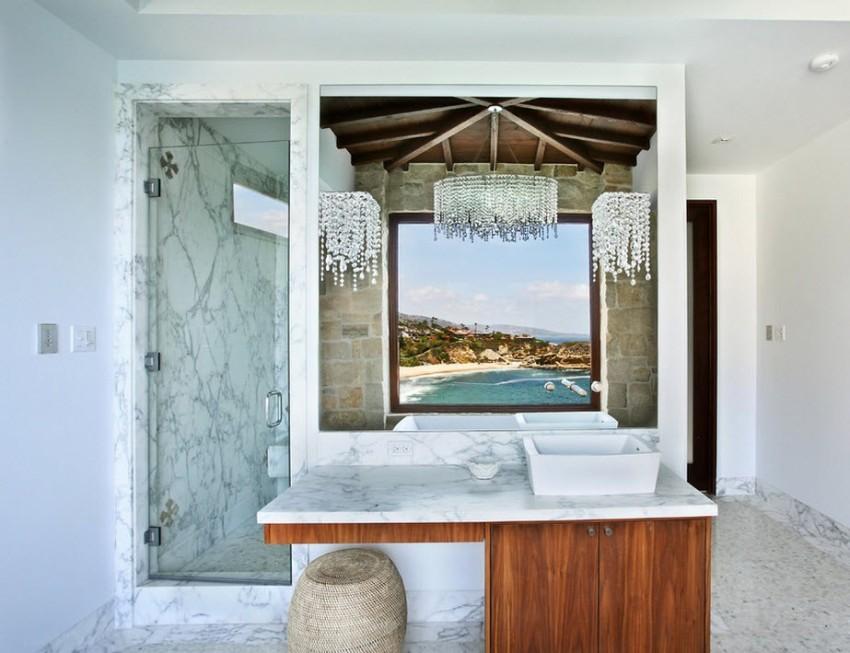 Большой популярностью при оформлении ванной комнаты пользуется итальянский вариант средиземноморского стиля