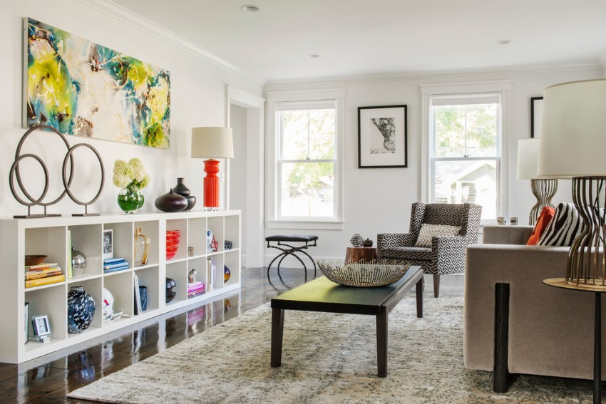 Чаще всего стеллажи IKEA изготовлены из дерева, что подчеркивает экологичность и добротность конструкции