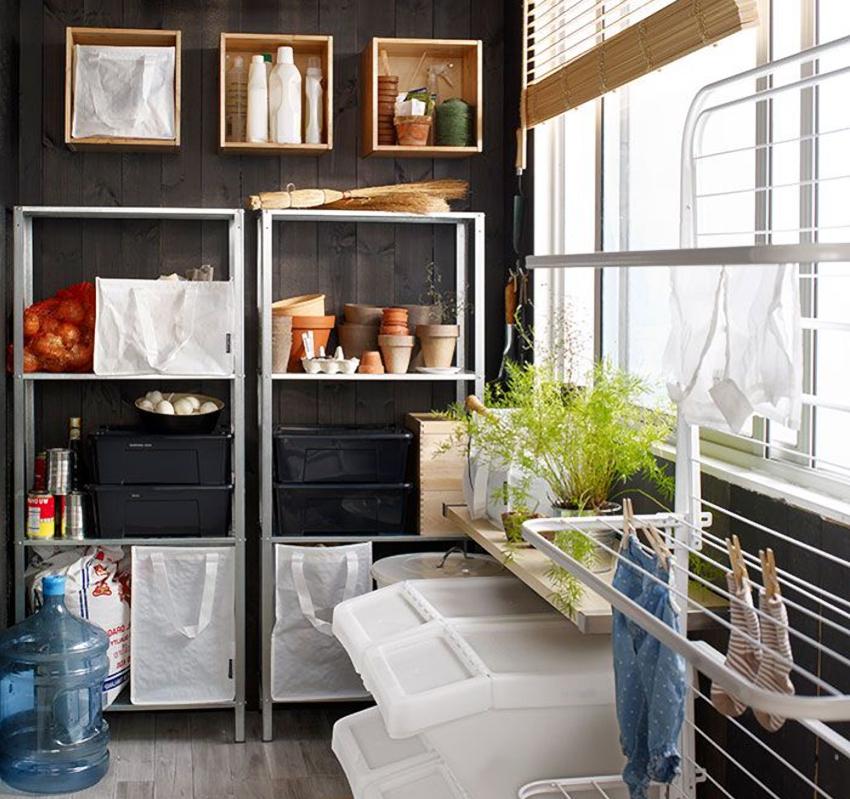 Конструкция стеллажа для балкона должна быть прочной и устойчивой