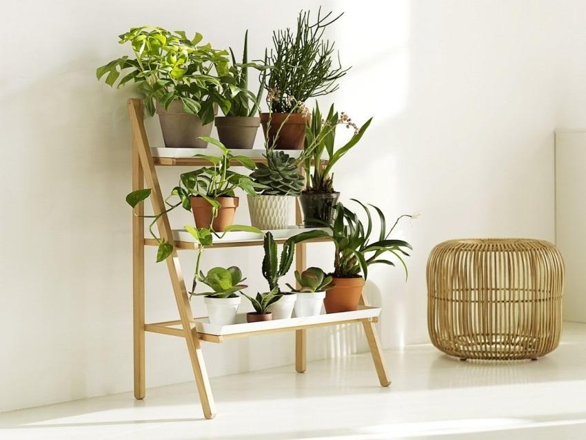 Маленький декоративный стеллаж — это этажерка