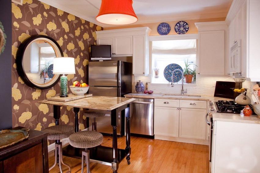 Единственное правило при оформлении кухни в стиле фьюжн - никаких ограничений