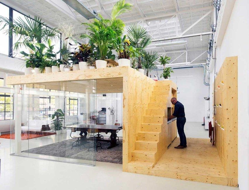 Дизайн офиса в стиле лофт становится все более популярным