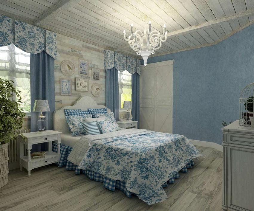 Комната в стиле прованс всегда наполнена мягкими пастельными цветами
