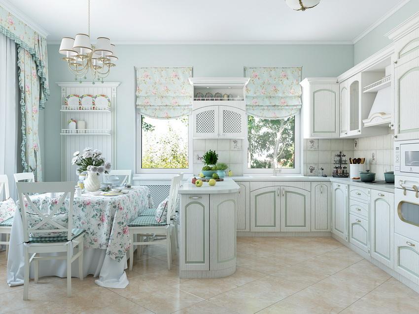 Белый кухонный гарнитур уже признан эталоном красивой кухни среди хозяек