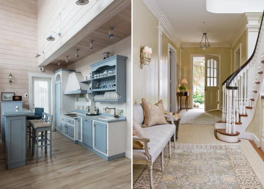 Для оформления помещения любого типа в стиле прованс подбирают мягкие и сдержанные цвета