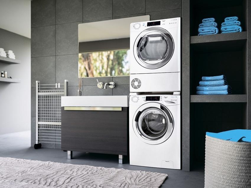 Интегрируемая стиральная машина Канди оборудована датчиком для контроля уровня пены