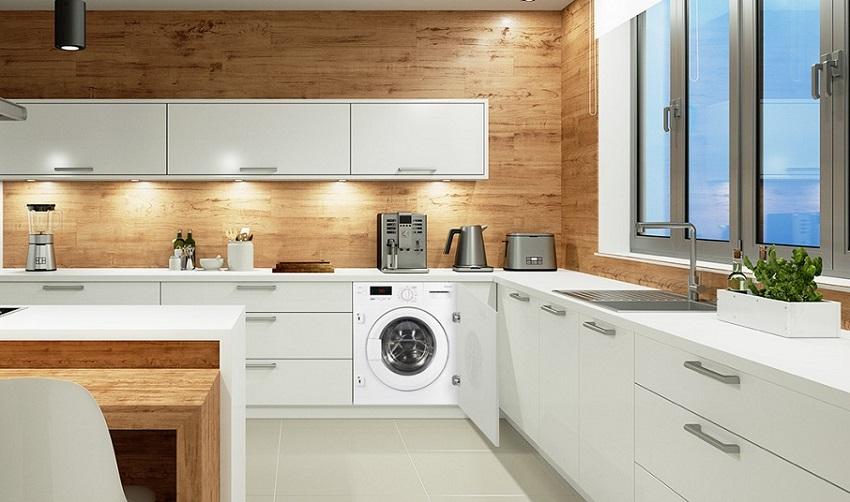 Большинство моделей интегрируемых стиральных машин имеют фронтальный вид загрузки