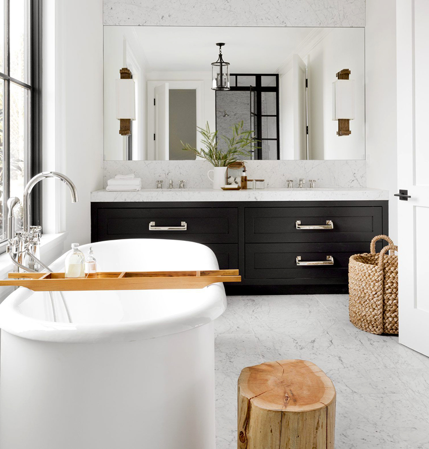 Ванная в скандинавском стиле должна быть максимально просторной и функциональной