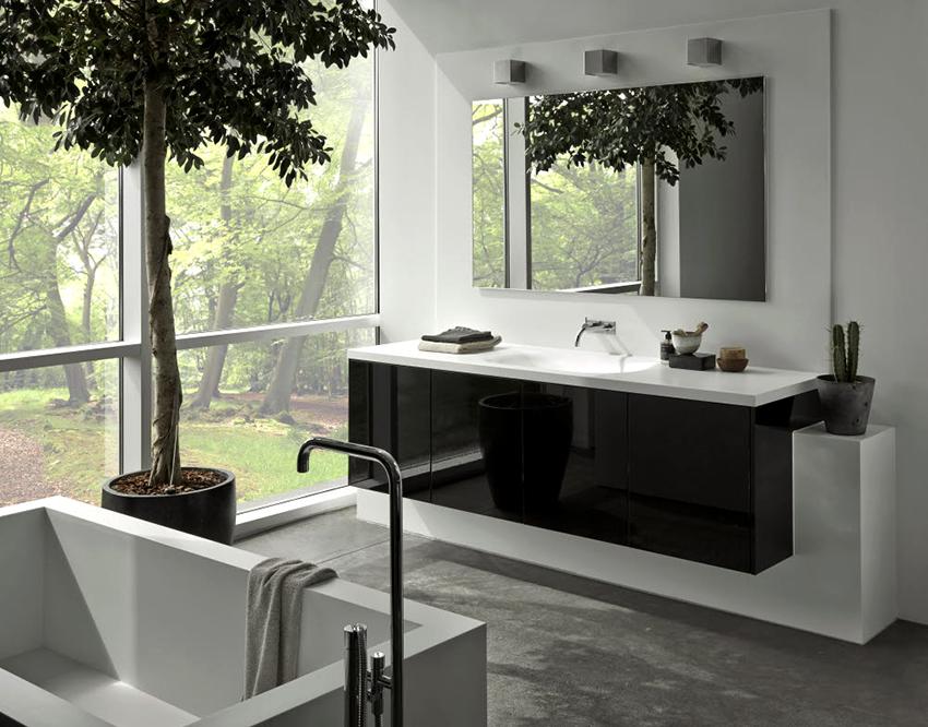 Ванная комната в скандинавском стиле должна выглядеть немного строго и минималистично