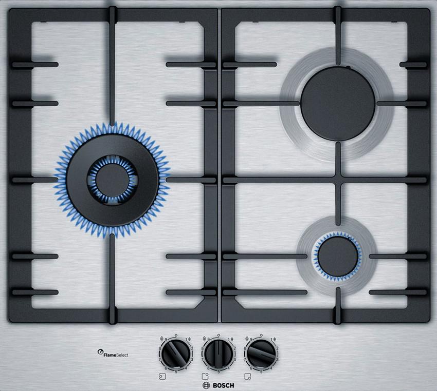 Конфорки модели PCC6A5B90 от Bosch имеют разные показатели мощности