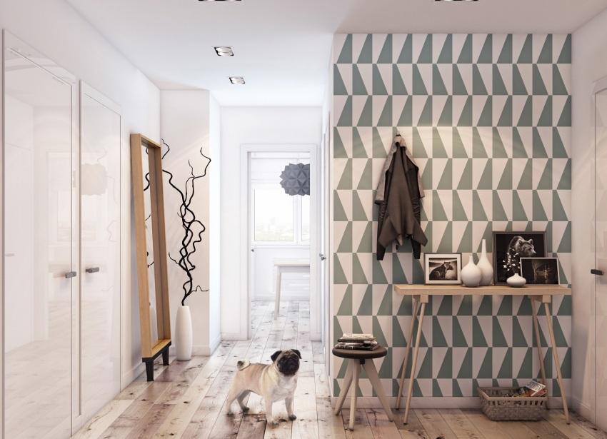 Оклеенные обоями стены коридора – привычный для многих классический вариант