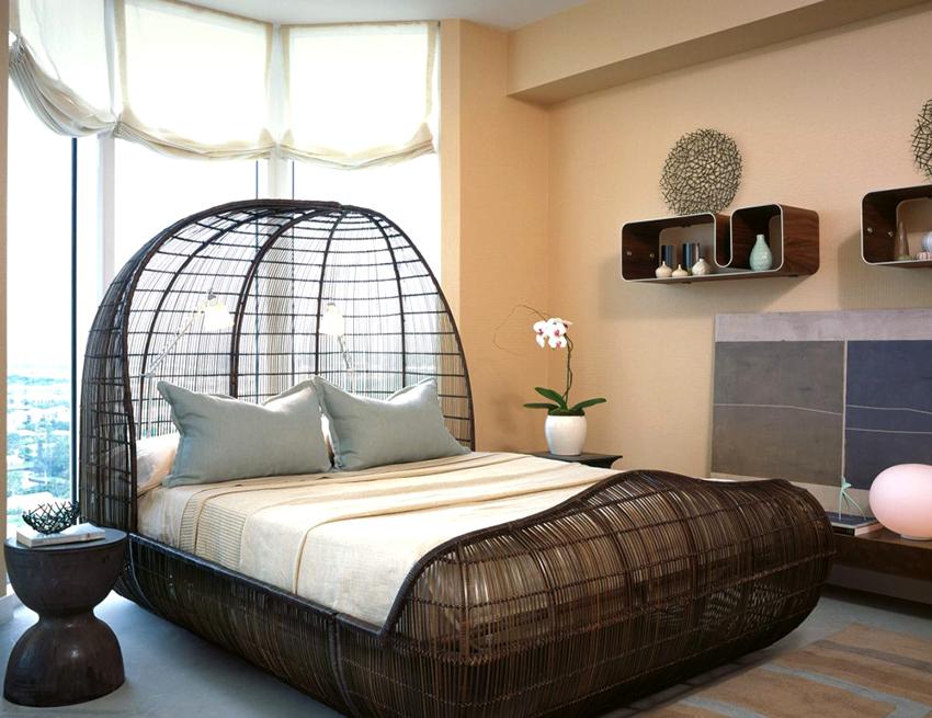 На сегодняшний день кровати отличаются разнообразными формами и дизайном
