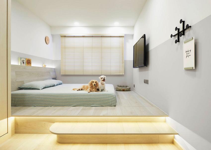 На выбор высоты кровати влияет рост человека, который будет на ней спать и необходимость в подкроватном пространстве