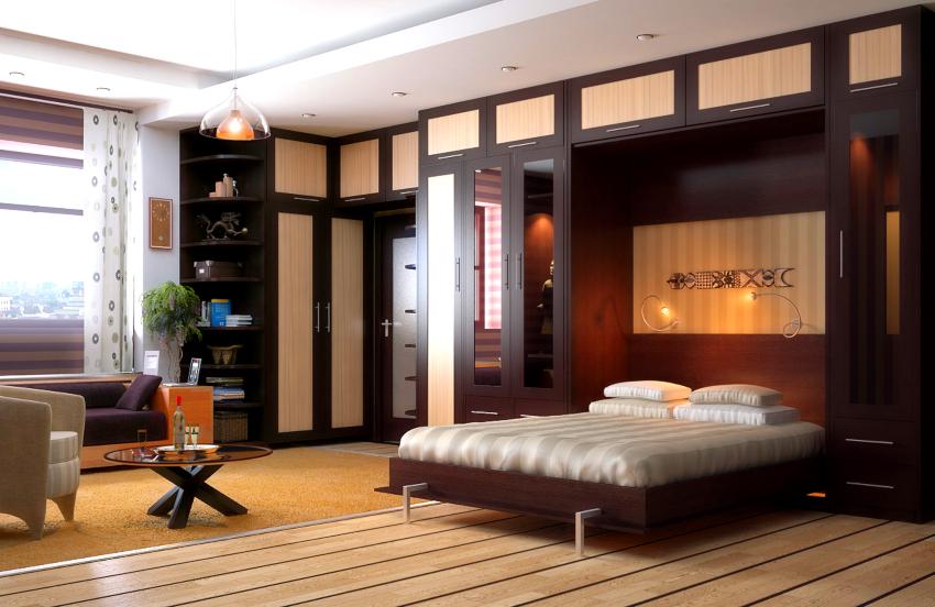 Специалисты не рекомендуют проводить самостоятельную установку стенки-кровати