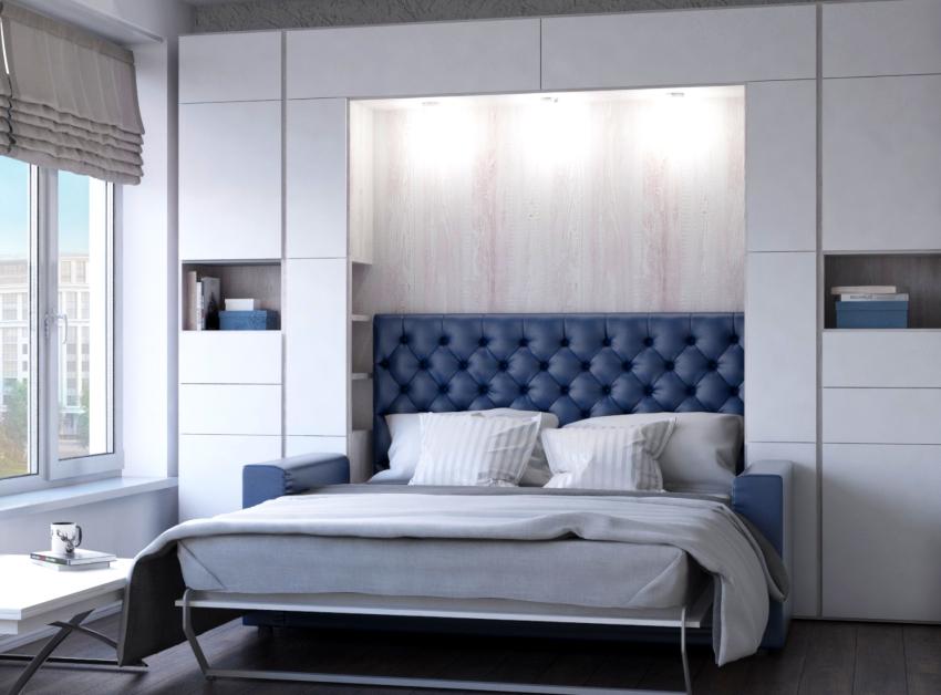 Двуспальная кровать-трансформер: популярный тренд для небольших квартир подробно, с фото