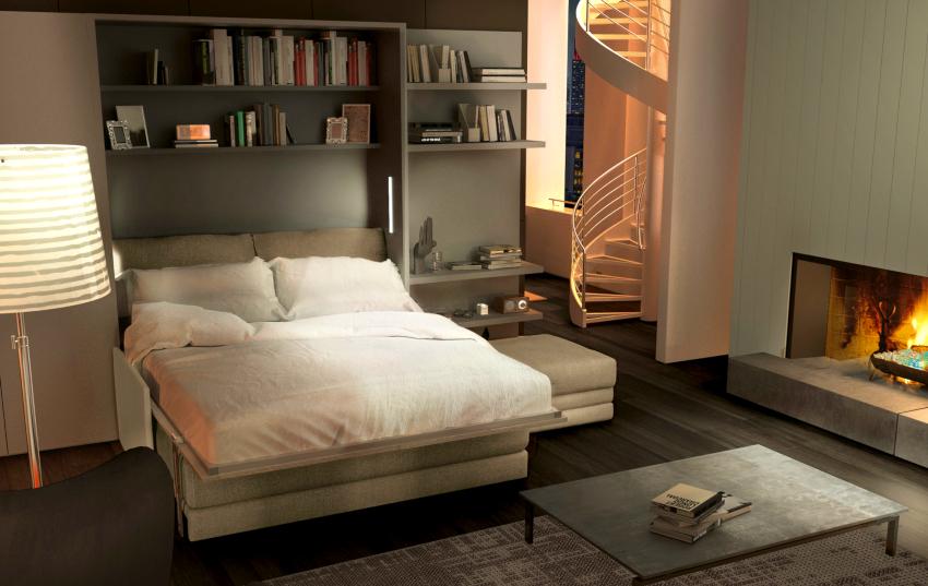 Трансформация мебели не требует больших усилий и производится очень быстро
