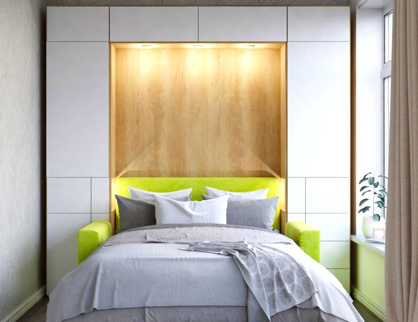 Двуспальная кровать-трансформер может сэкономить до 4 м² пространства