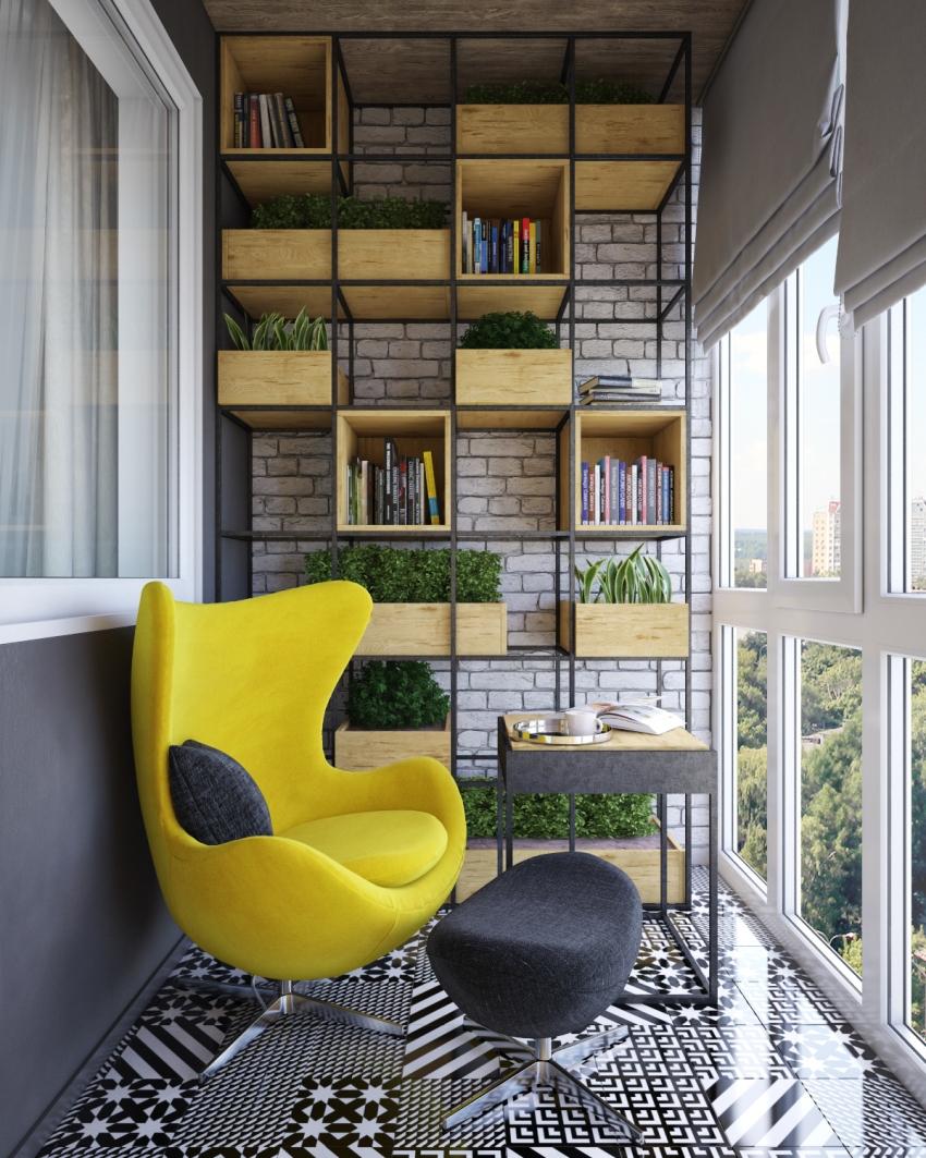 Использование французских окон для остекления балкона открывает возможности для создания разнообразного дизайна помещения