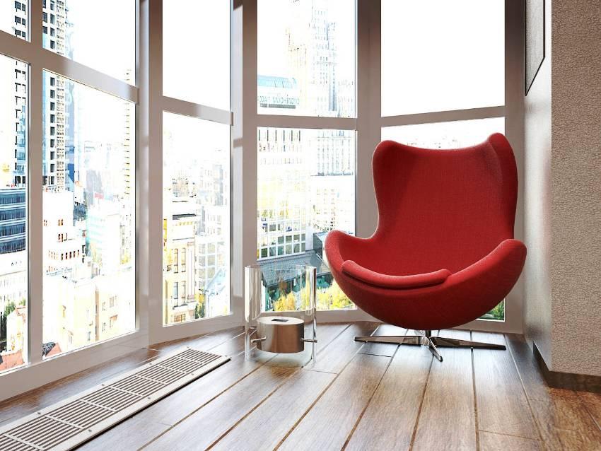 Французский балкон не требует внутреннего утепления и обшивки