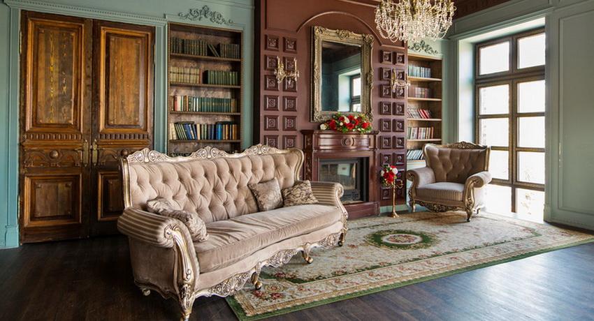 Интерьеры в классическом стиле как образец долговечности и респектабельности подробно, с фото