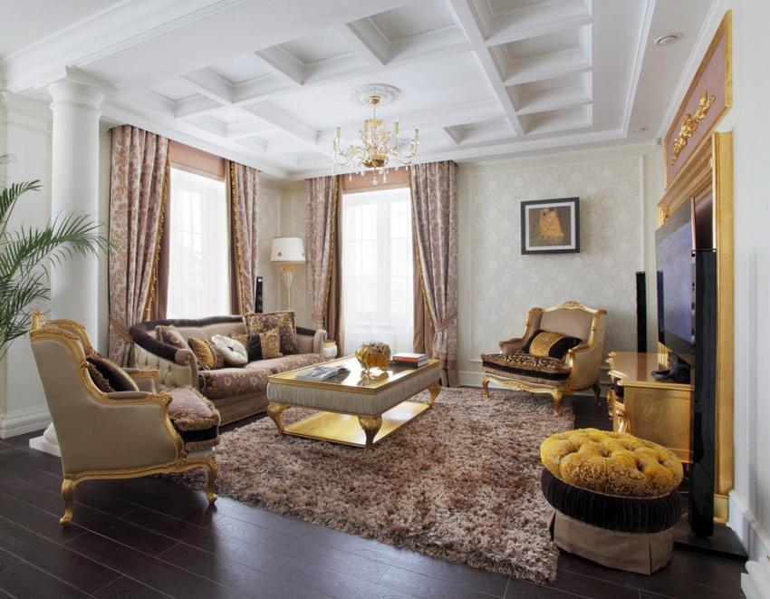 Главная черта классического стиля - роскошный и богатый внешний вид помещения