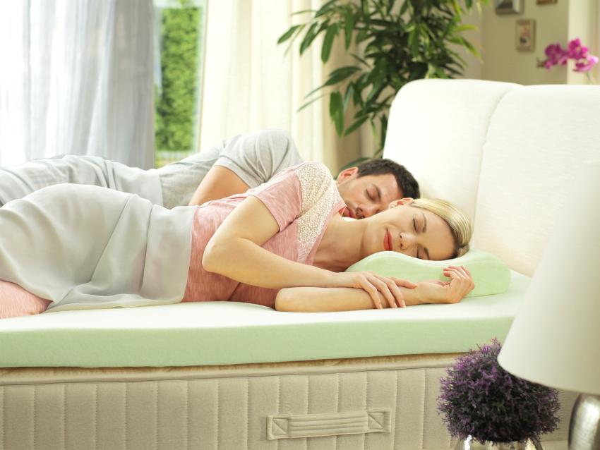Мягкие беспружинные матрасы обеспечивают спокойный и комфортный сон