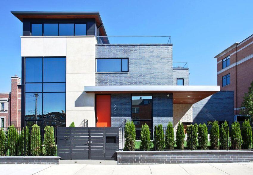 Крыша в домах стиля модерн чаще всего имеет сложную, многоуровневую конструкцию