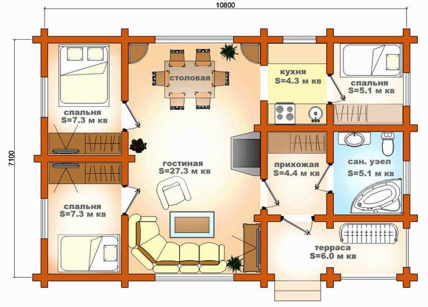 Пример проекта дома из кирпича