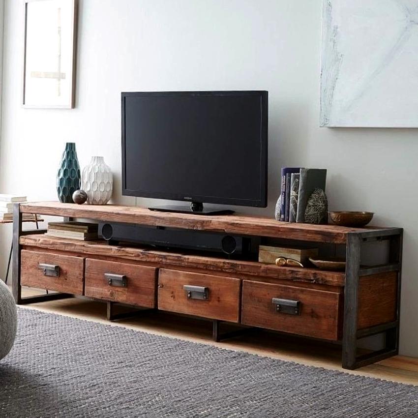 Консоль под телевизор должна максимально маскировать провода