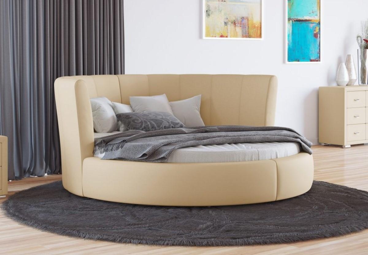 Из-за особенного дизайна цена на круглые кровати выше среднего