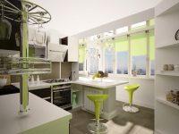 На пол кухни на балконе лучше уложить плитку