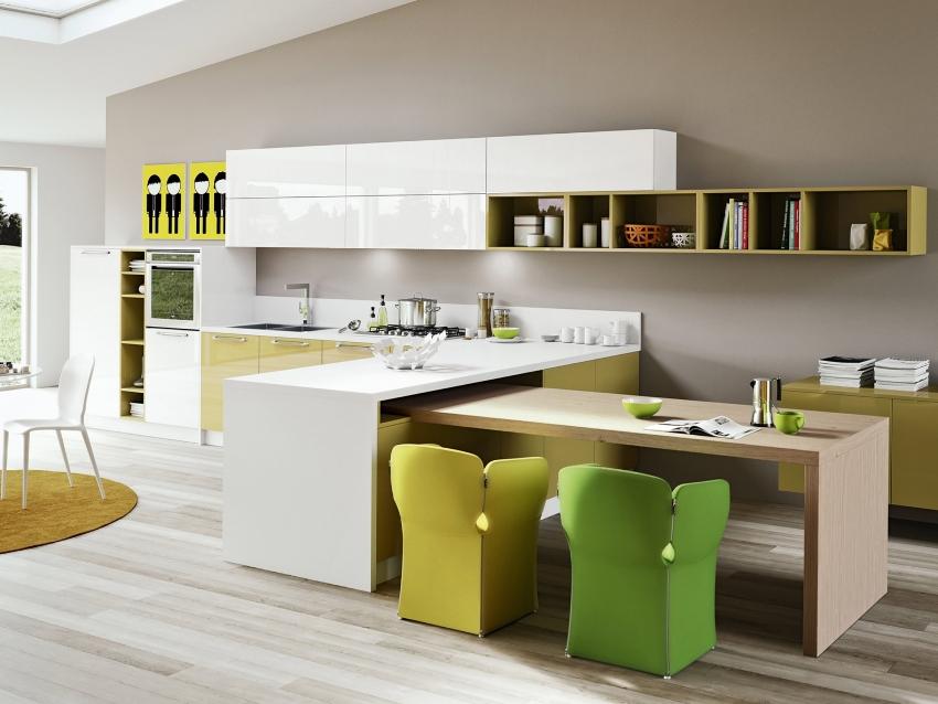 Мебель для кухни в стиле минимализм отличается удобством и функциональностью