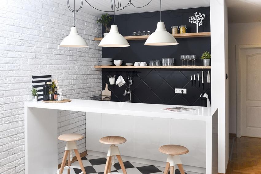 Стиль модерн одинаково хорошо подходит как для оформления маленьких, так и для больших кухонь