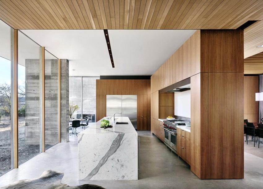 Нередко кухня в стиле модерн является частью квартиры с открытой планировкой и гармонично вписывается в общий дизайн