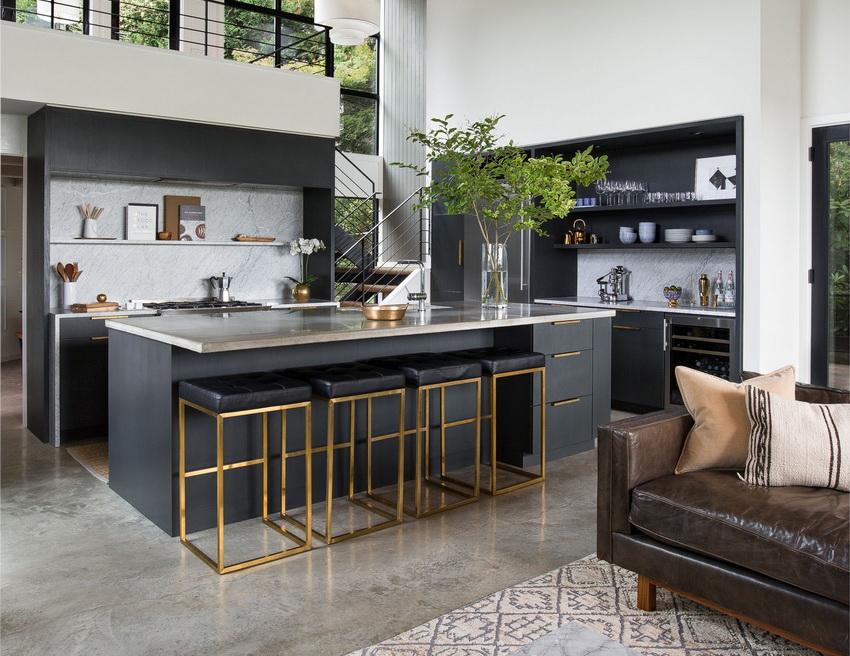 Кухня в стиле модерн всегда выглядит ухоженной и чистой