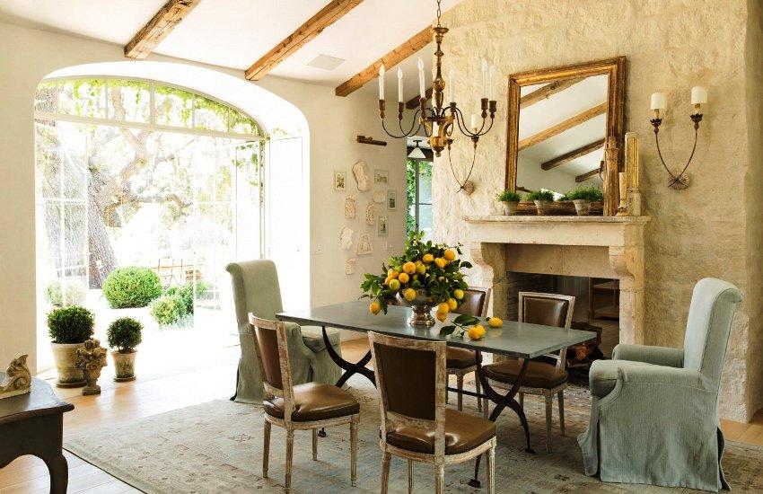 кухня в стиле прованс простой но уютный интерьер