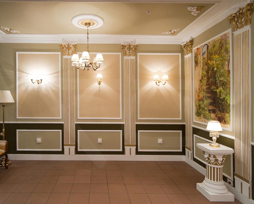 Молдинги на стену: простое решение в создании изысканного интерьера подробно, с фото