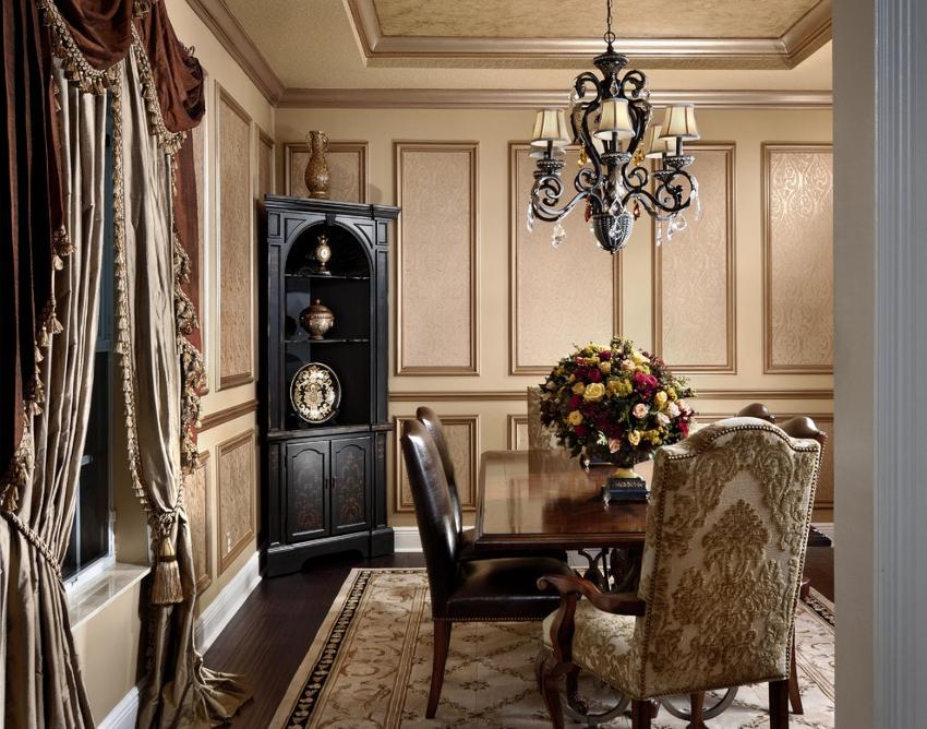Освежить комнату помогут геометрические композиции на стенах из молдингов