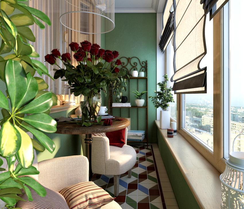 Для внутренней отделки балкона гипсокартоном, рекомендуется применять влагостойкую разновидность этого материала