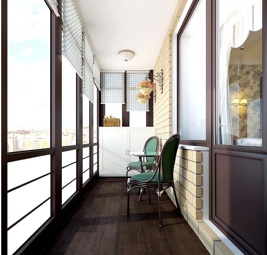 Для облицовки пола на балконе используют: линолеум, ламинат и керамическую плитку