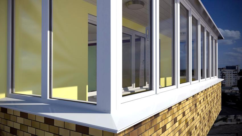 Распространенным вариантом облицовки внешних поверхностей балкона является металлический сайдинг