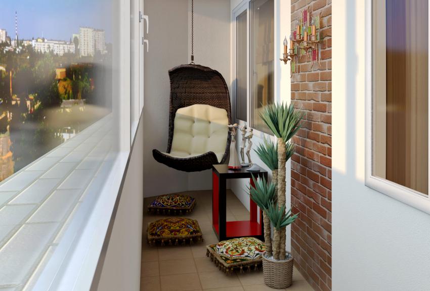 Керамическая плитка является популярным материалом в качестве напольного покрытия на балконе