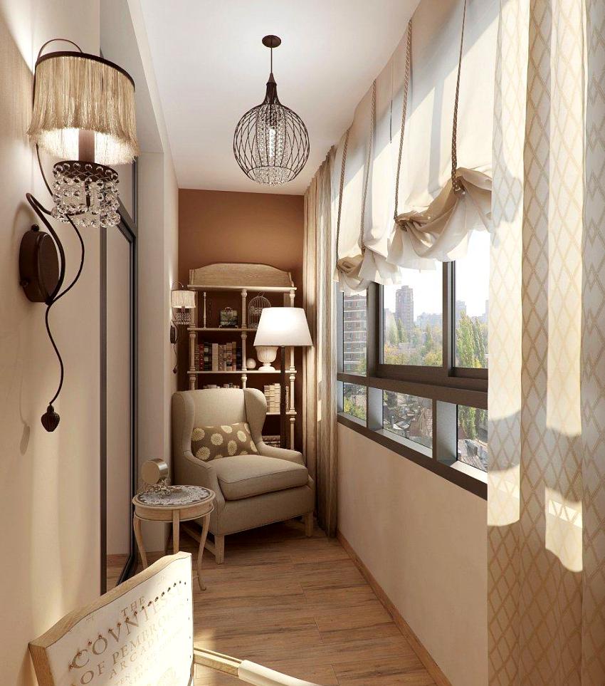 После облицовки балкона сэндвич-панелями нужно закрыть края и углы конструкции с помощью доборных элементов