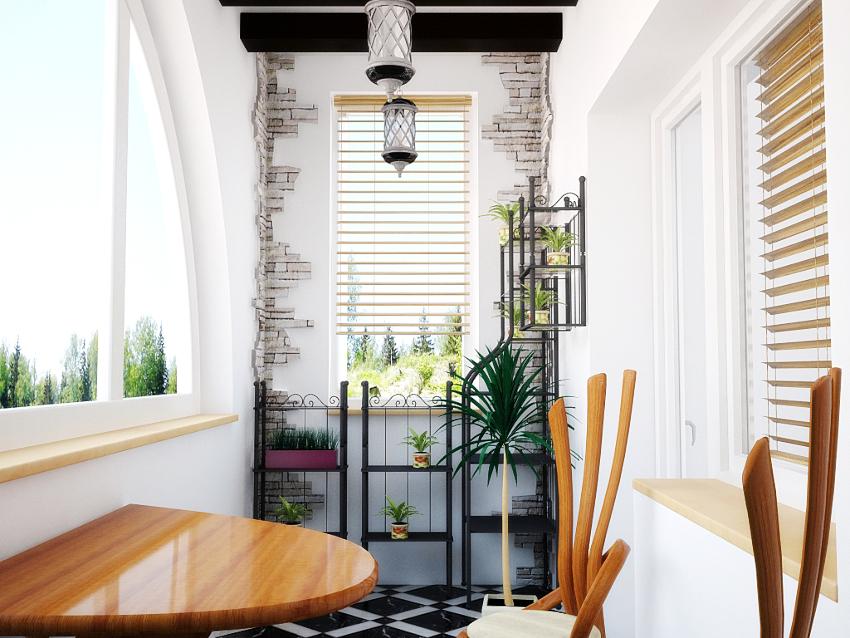 Маленький балкон рекомендуется облицовывать простыми материалами, не требующими монтажа обрешетки