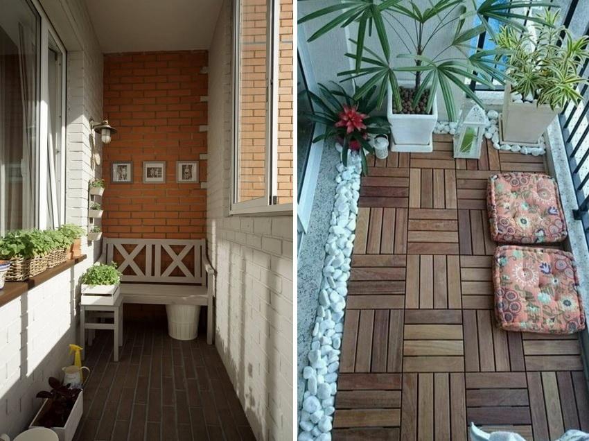 Деревянный пол всегда популярен, однако он дольше прослужит на балконах закрытого типа